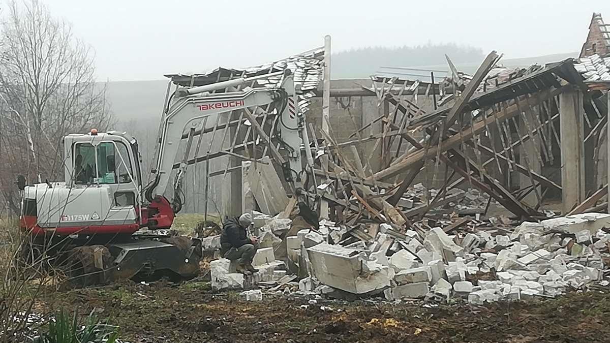 nasze prace - wyburzenia budynku